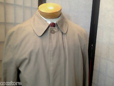 London Fog Trench Rain Coat Zip Out Lining Mens Size 38 Reg