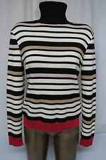 M MISSONI Striped Turtleneck Sweater size 10 Wool Blend made in ITALY