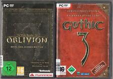 The Elder Scrolls 4 Oblivion & Shivering Isles & Knights of the Nine + Gothic 3