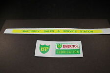 "MATCHBOX TRANSFERS/DECALS - MG1-2 SERVICE STATION ""BP"""