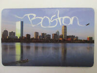 Skywriter Boston Skyline - Massachusetts Souvenir Fridge Magnet