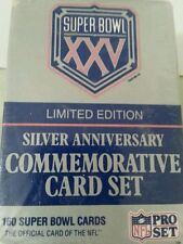 NFL Super Bowl XXV Limited Edition Silver Anniversary160 Commemorative Card Set