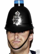 Flashing Policemans Helmet Police Hat Blue Siren Light Adult Smiffys Costume