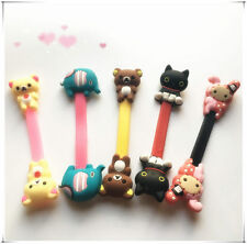 3pcs Cute Cartoon Earphone Headphone Cable Wire Cord Winder Organizer Clip Wrap