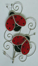 LADYBIRD STAINED GLASS LARGE GARDEN STAKE GIFTWARE FLOWER POT ORNAMENT BNIB
