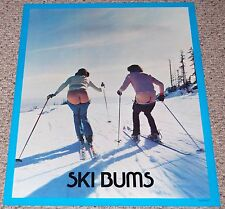 Vintage 1970's SKI BUMS Skiing Skier Photo Poster #9909 Campus Craft Head Shop