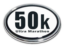 50K Ultra Marathon Chrome Plated Car Auto Truck Emblem Made in the USA! NEW