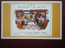 POSTCARD LMS BROUCHURE COVER - RESTAURANT CAR SERVICES ON LONG DISTANCE EXPRESS