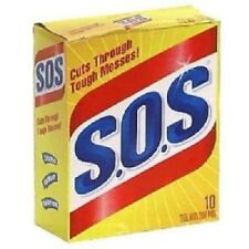 New S.O.S 98014 Steel Wool Soap Pad (10 Count) *