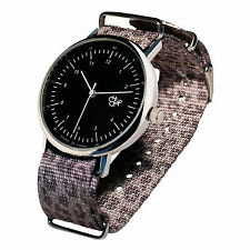 CHEAPO BRAND [HAROLD BLACK DIAL LEOPARD GREY STRAP] ARMBANDUHR UHR WATCH TATTOO