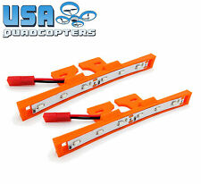 1 Pair 3D Printed Quadcopter LED Light Bar Kit for Racing Drones 12v (Orange)