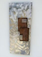 Metal Wall art painting New Sculpture Abstract contemporary  Holly Lentz