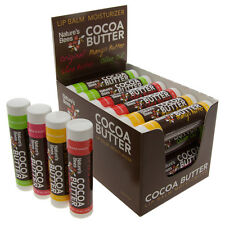 24pk Nature's Bees Cocoa Butter Lip Balm Moisturizer All Natural Chapstick Lot