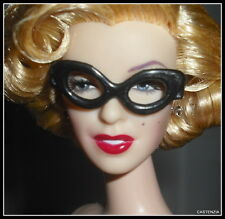 ACCESSORY MATTEL BARBIE DOLL MARILYN MONROE BLACK NO LENS GLASSES FOR DIORAMA