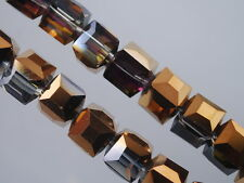 HOT!Wholesale Charms Glass Crystal Faceted Cube Loose Spacer Bead 6mm/8mm/10mm