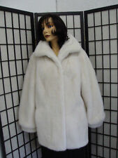 BRAND NEW CANADIAN WHITE MINK FUR JACKET COAT WOMAN WOMEN SIZE ALL CUSTOM MADE