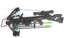NEW  PSE Fang 350 Black Complete Crossbow Package -Scope Arrows Quiver 1246