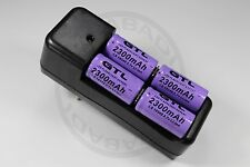 "CHARGEUR ""RAPIDE"" + 4 PILES BATTERIES RECHARGEABLE CR123A 16340 LI-ION 2300mAh"