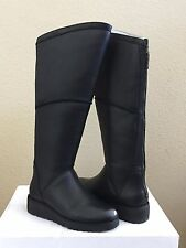 UGG KENDI BLACK KNEE HIGH CLASSIC SLIM LEATHER WEDGE BOOT US 11 / EU 42 / UK 9.5