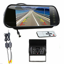 "Wireless IR Rear View Back up Camera Night Vision System + 7"" Monitor For Truck"