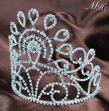 "Marvelous Wedding Bridal Tiara Hair Combs 5.5"" Crystal Rhinestone Pageant Crown"
