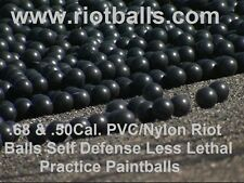 2000 X .68 Cal. PVC/Nylon Riot Ball Self Defense Less Lethal Practice Paintballs