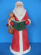"VINTAGE GORDON FRASER GALLERY MUSICAL SANTA CERAMIC PORCELAIN 1987 11.5"" TALL"