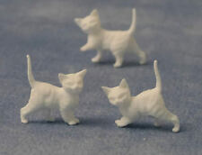 Three White Kittens, Doll House Miniatures, Animals & Pets, Cats.