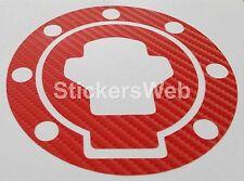 Adesivo Tappo Serbatoio SUZUKI GSX-R GSXR 600 750 1000 (Carbonio Rosso) C.515