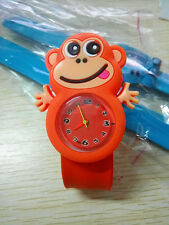 Child Kids Boys Girls Slap Snap On Silicone Lovely Cartoon Wrist Watch Gift New