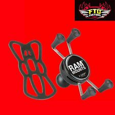 "RAM Mounts RAM-HOL-UN7BU RAM Universal X-Grip Cell Phone Holder with 1"" Ball"