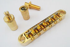 Gold Tune-O-Matic Roller Bridge For LP SG 335 Style Guitars replace New BM005GD