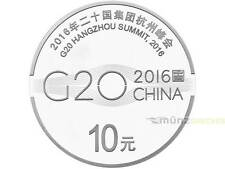 10 yuans g20 hangzhou Summit cumbre china 1 Oz onza plata pp 2016