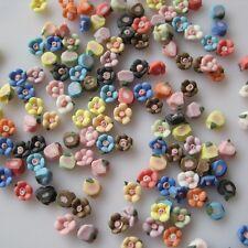 30pcs #85 Mix Ceramic Flower Cute Decoration Nail Art Decoration
