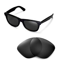 New Walleva Polarized Black Lenses For Ray-Ban Wayfarer RB2140 54mm