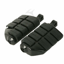 Black Wing Male Mount Footrests Footpegs For Harley Softail Dyna Sportster XL