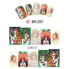 Nail Art Manicure Water Transfer Decal Sticker Fashion Girl BN257