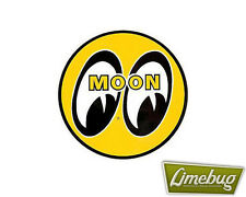 "Mooneyes Yellow Moon 1.5"" Sticker Stickers Decal VW Camper Beetle Golf Bus Polo"