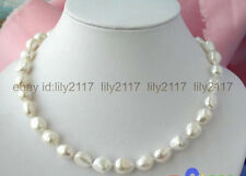 AAA HUGE 14x16mm WHITE FRESHWATER CULTURED PEARL NECKLACE 18 INCH