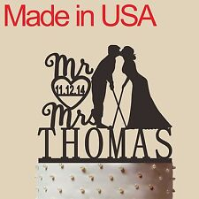 Personalized Golf themed Cake Topper, Acrylic,Wedding Gift,Made in USA 5''