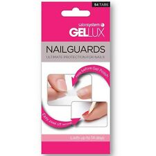 Salon System Gellux Nailguards 54 Tabs Worn Under UV Gel Polish Protects Nails