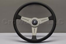 Nardi Personal Classic Steering Wheel - 390mm - Black Leather with White Spokes