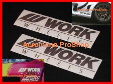 2x 6inch 15.2cm Work decal sticker wheels equip emotion CR-kai JDM vinyl bumper