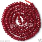 """5x8mm Faceted Brazilian Red Ruby Gemstone Abacus Loose Beads 15""""AAA"""