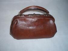 Vintage/Antique English, Mini Gladstone Bag - Leather Doctors Bag .