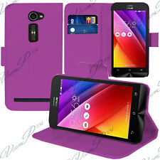 Housse Etui Coque Portefeuille Support Video VIOLET Asus Zenfone 2 ZE500CL/ 2E