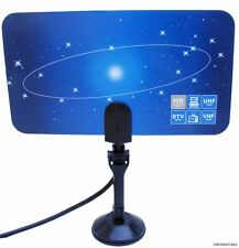 New Digital Flat TV indoor  HDTV VHF UHF Antenna ATSC air ,4 Tuner PC Card HD
