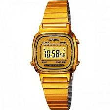 Casio Women's Digital Placcato Oro la670wga-9df CON ALLARME ACQUA RESIST watch