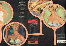 Publicité Advertising 1960 (Double page) Lingerie STAR LOU GETIEN soutien gorge