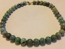 Antique Chinese Turquoise beads 53.9 gram necklace original jewelry (m1180)